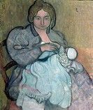 Maternity with a White Dress (Jean-Paul) c.1895 (oil on canvas), Denis, Maurice (1870-1943) / Private Collection / Bridgeman Images
