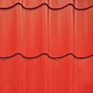 Red roof tile fragment