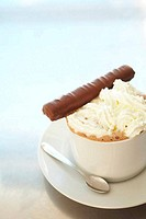 Cappuccino in coffee cup