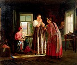 Preparation Before a Party, 1869 (oil on canvas), Maximov, Vasily (1844-1911) / State Kazakh Art Gallery, Alma-Ata, Kazakhstan / Bridgeman Images