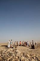 Pilgrimage in Holy Land, Catholic mass in Judean desert.