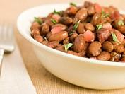 Borlotti Beans Braised in Red Wine
