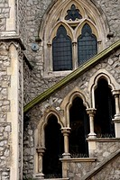 Details of gothic english church