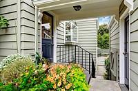 Entrance porch with walk-through to backyard