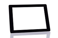 Tablet on white background