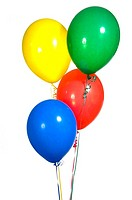 Primary Colored Party Balloons