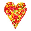 colorful candies heart