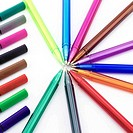 colorful pen isolated on white