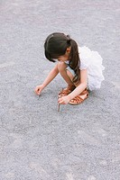 Young girl playing in the park