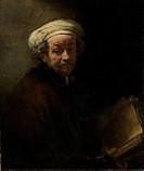 Self portrait as the Apostle Paul, 1661 (oil on canvas), Rembrandt Harmensz. van Rijn (1606-69) / Rijksmuseum, Amsterdam, The Netherlands / Bridgeman ...