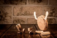 Wine cork figures, Concept Bogeyman and Children