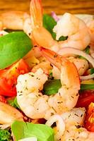 prawn salad closeup