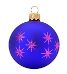 blue Christmas ball isolated on the white background