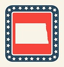 North Dakota American state button