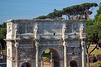 Arch of Constantine From Colosseum Rome Italy