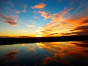 Colorful Sunset Water Reflections