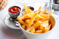 Golden French fries