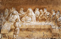 Study for the Last Supper, drawing by Gaudenzio Ferrari (ca 1470-1546).  Milan, Pinacoteca Di Brera (Art Gallery, Paintings)