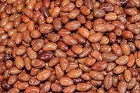 Black Kalamata olives background