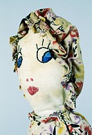 Topsy Turvy, rag doll with folk clothes, 1940, height 33 cm. United States of America, 20th century. Detail.