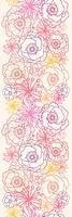 Subtle field flowers vertical seamless pattern border