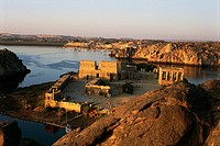 Temple of Isis at Philae (UNESCO World Heritage List, 1979), Agilkia Island, Aswan, Egypt. Egyptian civilization.
