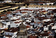 View of the city of Elvas (Unesco World Heritage List, 2012), Alentejo, Portugal.