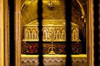 Relics of St. James. Cathedral. Santiago de Compostela. La Coruña, Galicia, Spain, Europe.