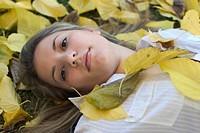 Woman & Leaves 10