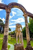 Villa Adriana, Tivoli, Latium, Italy, UNESCO World Heritage Site.