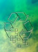 Recycling logo, computer illustration.