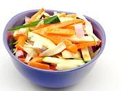 Assorted vegetables cut