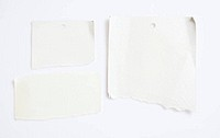 blank white paper with clipping path