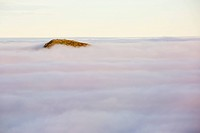 Ill Bell from Red Screes in the Lake District, Cumbria, UK, with valley cloud caused by a temperature inversion.