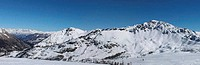 Alps panopama in Italy (Sestriere) wit