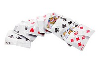 Crumpled Playing Cards
