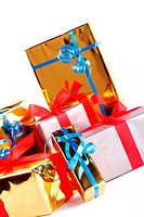 Detail of assortment of gift boxes