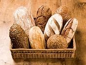 Bread loaves in a basket