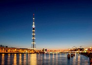 The TV Tower of the Leningrad Radiotelevision transmission Cente