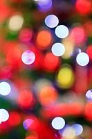 Blurred Christmas lights background.