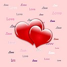 Hearts seamless pattern ,valentine's day elements with cupid