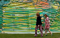 Interwoven ribbons forming outer skin of pavilion. Serpentine Summer Pavilion 2015, London, United Kingdom. Architect: Selgascano Architects, 2015.