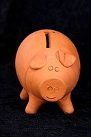 terracotta money box