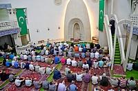 Zagreb, Croatia. Friday congregational prayer Jumu´ah at Islamic center.