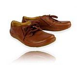 Brown leather comfortable shoes