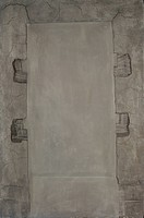 Tabula rasa, by Antoni Tàpies, 1958, 20th Century, cementite on canvas, 196 x 129 cm. Italy, Lazio, Rome, National Gallery of Modern and Contemporary...