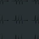 heart rhythm web icon. flat design. Seamless gray pattern.