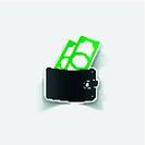 realistic design element: purse, money