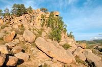 Sleeping Lion Mountain (Omulevaya hill) Buryatia, Siberia, Russian Federation