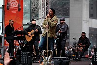 Romeo Santos performing live on the 'Today' show for the NBC Today Show Concert Series on The Plaza Featuring: Romeo Santos Where: NYC, New York, Unit...